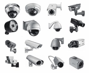 اشكال كاميرات المراقبة