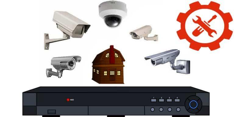 كاميرات مراقبة منزلية