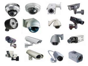 انواع واشكال الكاميرات