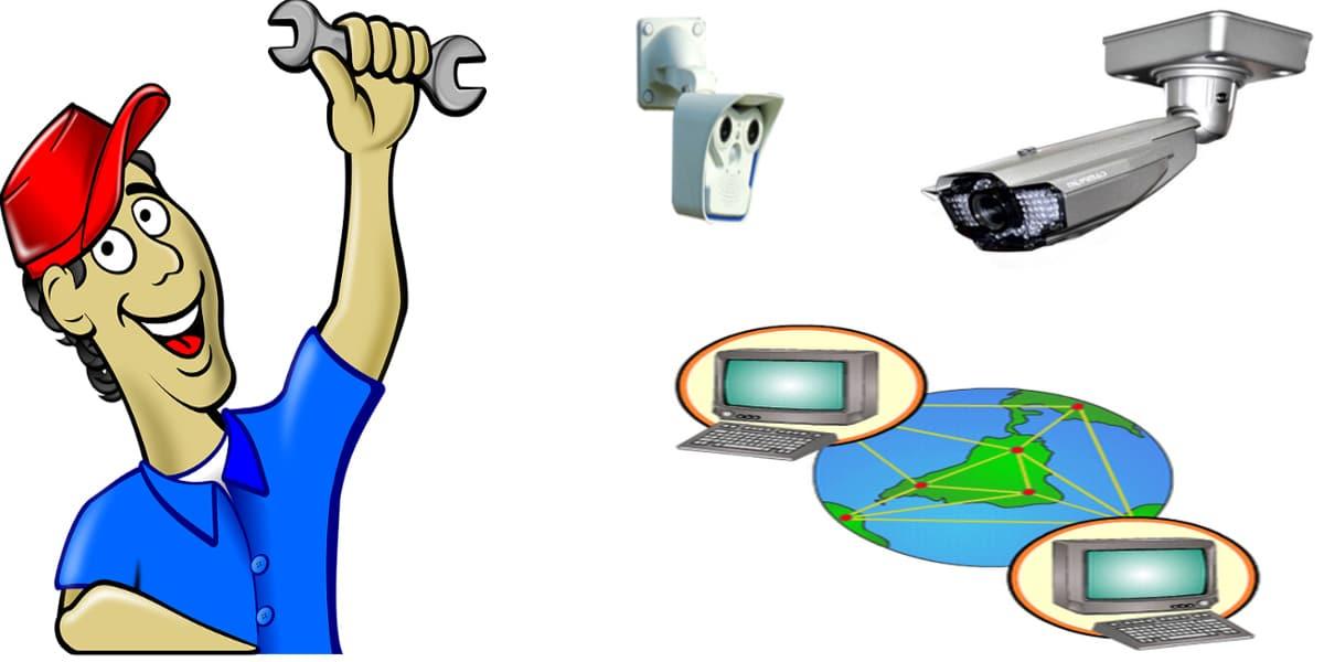 كيفية تركيب كاميرات المراقبة Ip و اعدادات الراوتر أمن المباني