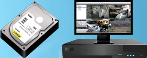 جهاز dvr و الشاشة والهارد ديسك