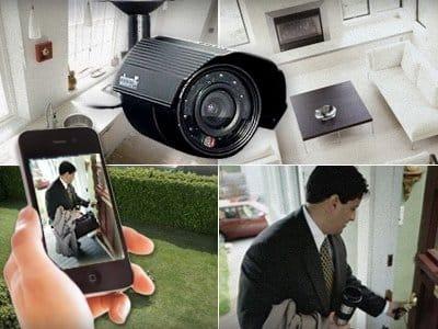 كاميرات مراقبة المنزل