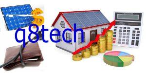 تكلفة تركيب الطاقة الشمسية للمنازل