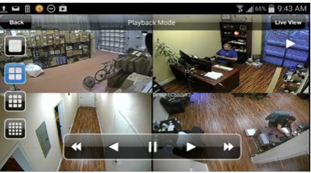 تدقيق تسجيل كاميرات مراقبة بالتاريخ والوقت