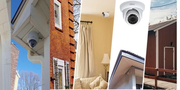 أفضل المواقع لتثبيت كاميرات المراقبة