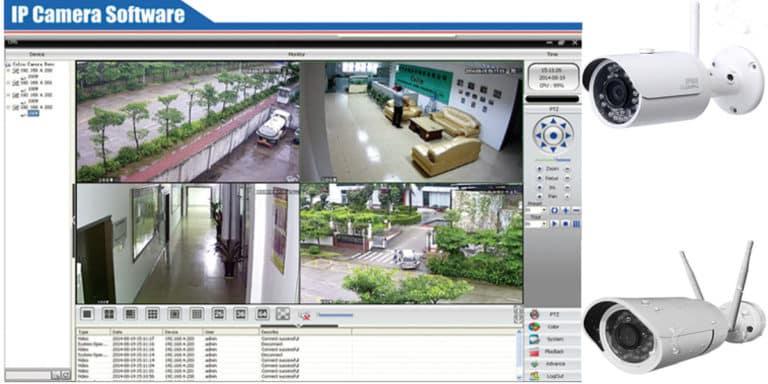 برنامج تشغيل كاميرات المراقبة IP