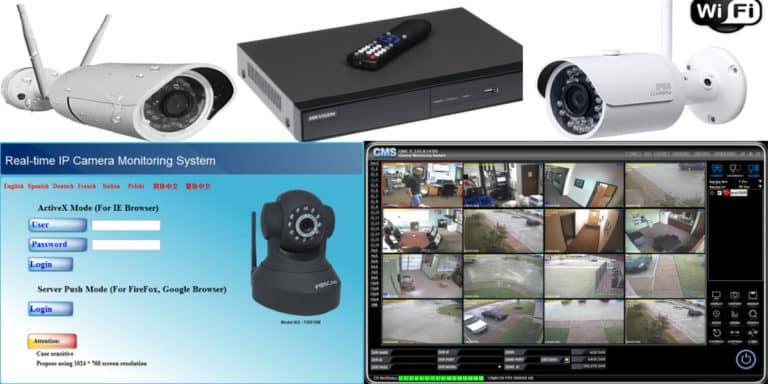 طريقة اعداد كاميرات المراقبة