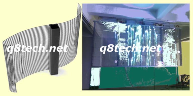 اسعار شاشات ليد الشفافة بيع وتأجير