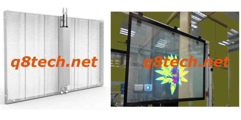 شاشات عرض شفافة داخلية
