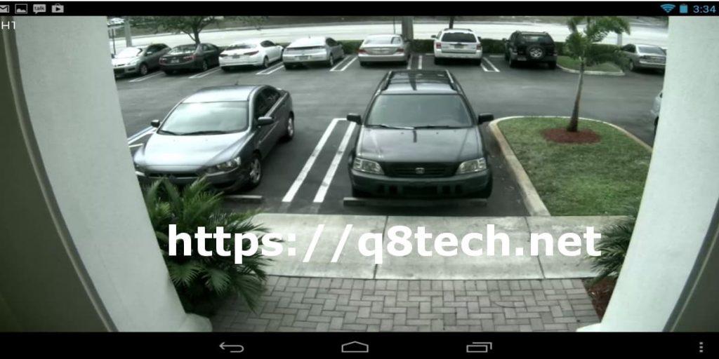 شاشة كاميرات مراقبة خارجية