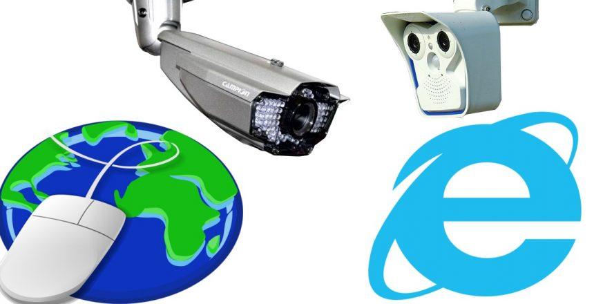 كاميرات مراقبة عبر الإنترنت